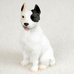 American Pit Bull Terrier White Dog Figurine Tiny Ones