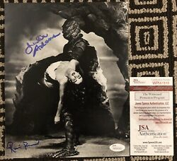 Julie Adams And Ricou Browning Signed Creature From The Black Lagoon Jsa 8x10