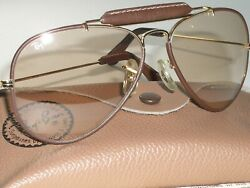 58[]14m Bandl Ray-ban Brown Photochromic Transition Leathers Outdoorman Sunglasses