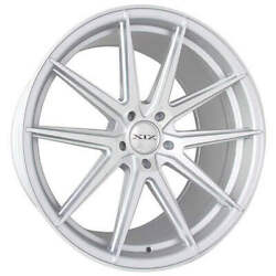 4ea 20 Staggered Xix Wheels Xf51 Silver Machined Flow Formed Rims S2