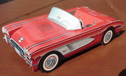 9 Corvette Cardboard Cars Kids Food Box Tray Party Planner Table Center Chevy