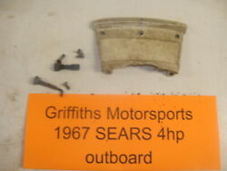 1967 Sears Simpsons Outboard Motor 4hp 574-59660 Front Carb Cover Panel