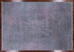 6and039 2 X 8and039 10 Handmade Full Pile Overdyed Wool Rug - Q3713