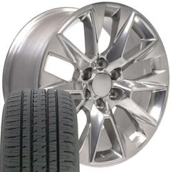 5920 Polished 20x9 Wheels And Bridgestone Tire Set Fit Gmc And Chevy