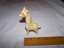 Vintage Rubber Squeeky Toy Giraffe With Swivel Head