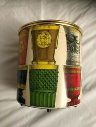 Ice Bucket With Bohemian Glasses Design By Piero Fornasetti, With Label Under