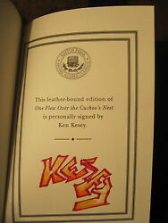 Easton Press One Flew Over Cuckoo's Nest Kesey Sharpie Signature