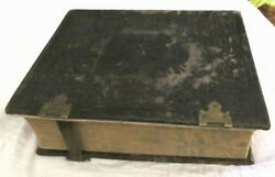 Huge Antique 1864 German Bible Biblia Leather Bound Book Martin Luther