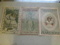 Lot Of 3 Vintage Advertisement Pears' Soap Ads, 1898. 1903, 1906