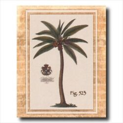 Tropical Palm Tree Room Wall Picture Art Print
