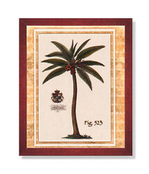 Tropical Palm Tree Room Landscape Wall Picture Cherry Framed Art Print