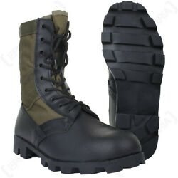 New Us Army Gi Vietnam Panama Lightweight Jungle Tropical Boots Canvas Leather