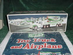 2002 Hess Truck And Airplane Xmas Christmas Holiday Gift Mint In Box Toys 02