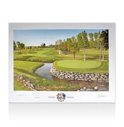 Nick Faldo Signed Ryder Cup Photo - Ryder Cup 2008 Valhalla 13th Hole