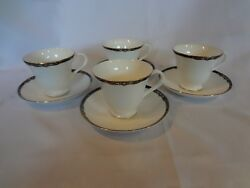 Wedgwood China - Preston - Set Of 4 Cups And Saucers