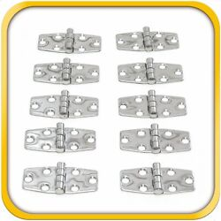 10 Boat Rv Door Hinges Polished Steel Stainless 3 X 1.5 Mirror Finish New Set