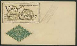 Us Local Cover Scott 12l1 Fresno And San Francisco Bicycle Mail Route Pf-563761