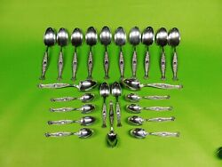 24 Pc Sterling Silver English Custom Made In The Pattern Of Hyperion By Whiting