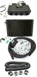 Universal Underdash Ac Heat Cool Air Conditioning Evaporator Kit W/ Vents Hoses