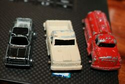 1970 Era Lot Tootsie Toy And Other Metal Muscle Cars Pickup Trucks Suv Original