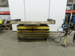 Air Float 4000lb Pneumatic Air Scissor Lift Table 84x40 Turntable Top 15 To 38