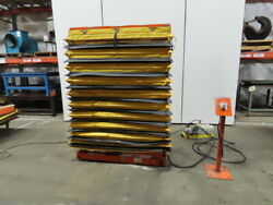 500 Lb Cap Air Over Hydraulic Lift Table 54x19 Top 17-1/2 To 76-1/2 High