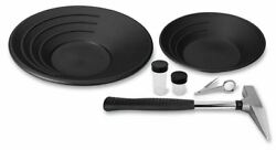 Stansport Gold Panning / Mining Kit With Prospector's Rock Pick And Gold Pans