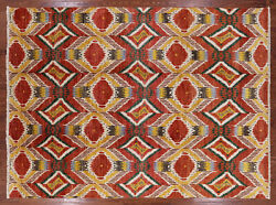 8' 10 X 12' 0 Ikat Hand Knotted Area Rug - P5507