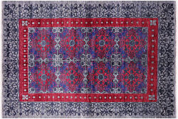5and039 11 X 8and039 9 Hand Knotted William Morris Wool Rug - P7051