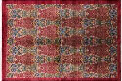 Hand Knotted William Morris Wool Rug 5and039 8 X 9and039 2 - P7078