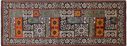 4and039 2 X 11and039 7 Runner Hand Knotted William Morris Wool Rug - P7229