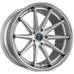 4ea 22 Staggered Rohana Wheels Rc10 Machined Silver Rims S9
