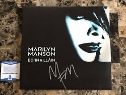 Marilyn Manson Rare Signed Autographed Born Villain Limited Vinyl Record BAS COA