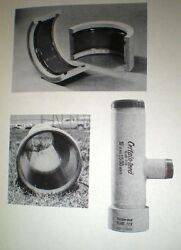 Asbestos Cement Sewer Pipe Duct Certain-teed Certainteed Keasbey Mattison 1966