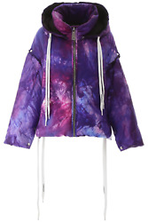 New Khrisjoy Khris Puffer Jacket With Removable Sleeves Bsw013nytie Violet Tie D