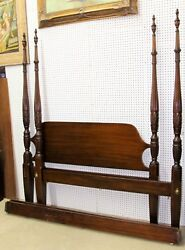 Gorgeous Vintage Ornate 4 Poster Rice Carved Drexel Heritage Queen Bed