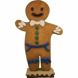 Gingerbread Papa Cookie Christmas Display Prop Decor Statue