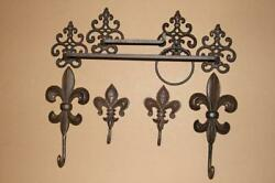 7 Vintage Style French Victorian Bathroom Accessories Set Cast Iron Hardware