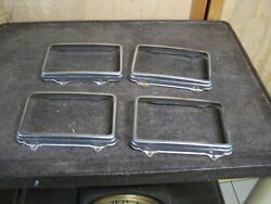 Ford Mercury Lincoln Town Car Signature Series 4 Square Headlight Trim Ring