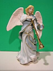 Lenox Nativity Little Town Of Bethlehem Angel With Trumpet Sculpture New In Box