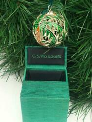 C.s. Wo And Sons Christmas Ornamenthand Crafted Cloisonne Ornament Mint Condition
