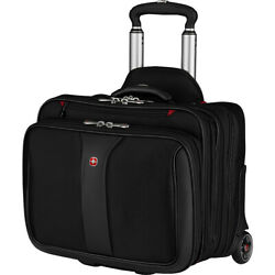 Wenger Patriot Rolling 2-Piece Business Set - Black Non-Wheeled Business Case