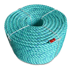 Cwc Blue Steel Rope - 1/4 X 1200and039 Teal W/dark Blue Tracer