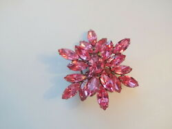 Rare Vtg Weiss Heavily Jeweled Christmas Snowflake Signed Pin Brooch