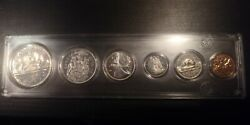 Canada 1966 Silver 6 Coin Set 1 Dollar. 50 Cents 25 10 5 And 1 Cent