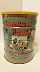 Vintage High Maxwell House Coffee Since 2 Lb Metal Tin Can And Original Lid