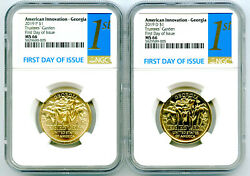 2019 P D Georgia Ngc Ms66 American Innovation Dollar Matching Set First Day 1st