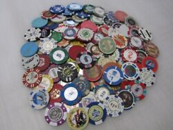 100 Casino Gaming Poker Chip Lot Las Vegas 1 New And Used Chipco Paulson Clay