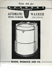Sears 1950's Kenmore Automatic Washer And Dryer Brochures