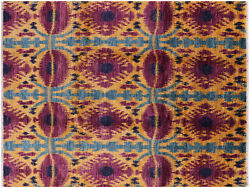 8' 10 X 11' 7 Ikat Hand Knotted Area Rug - P5183